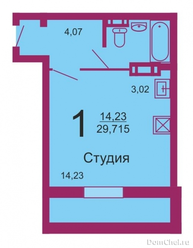 1-комнатная квартира: 28/14/3м2, этаж 9/18 - продам квартиру.